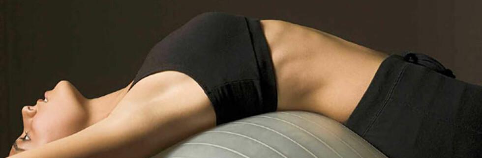 Pilates er en treningsform som styrker indre muskler. Foto: Colourbox.com