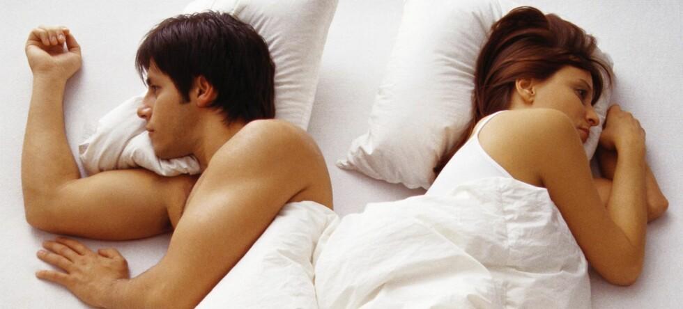 Flere kvinner enn menn irriterer seg over partnerens avvikende døgnrytme, ifølge ny undersøkelse fra NorStat. Foto: Colourbox