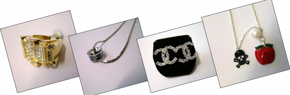 Disse smykkene inneholder for mye nikkel. Foto: SFT