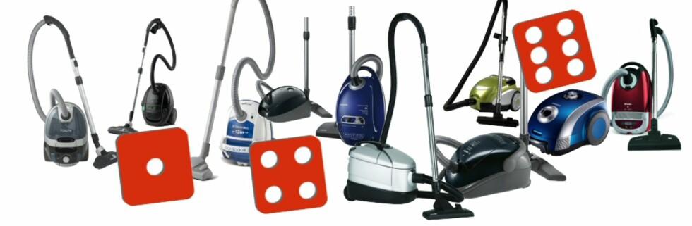 Holder noen av støvsugerne til terningkast seks? Foto: Smartson/DinSide