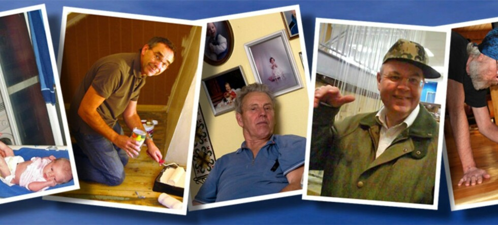 Tre av disse fedrene får en ekstra fin påskjønnelse til farsdagen i år. Foto: Privat/DinSide