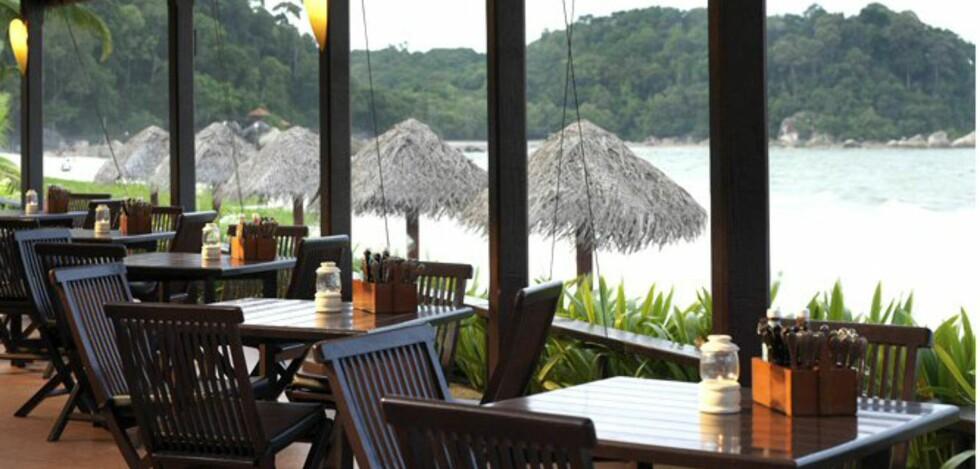 Ingenting å si på utsikten fra restaurant Kampong, der du kan spise både frokost og middag. Foto: Hyatt Regency Kuantan