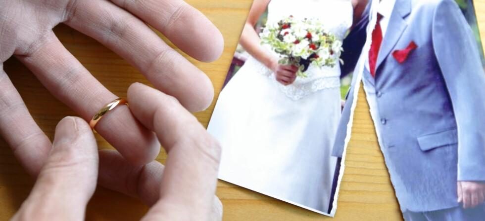 Ekteskapet får stadig kortere levetid, og mannens utroskap skal ifølge en fersk undersøkelse ha mest av skylden.  Foto: colourbox.com