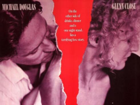 Michael Douglas og Glen Close satte utroskap på dagsorden i ''Fatal Attraction'' fra 1987.