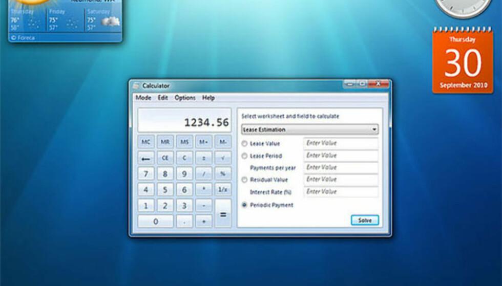 Slik ser skrivebordet ut i neste Windows-versjon, Windows 7.