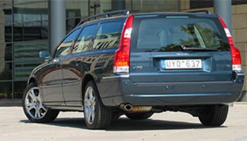 Fra lanseringen av den ansiktsløftede S60, V70 og XC70 i Mainz våren 2004. Her en Volvo V70.