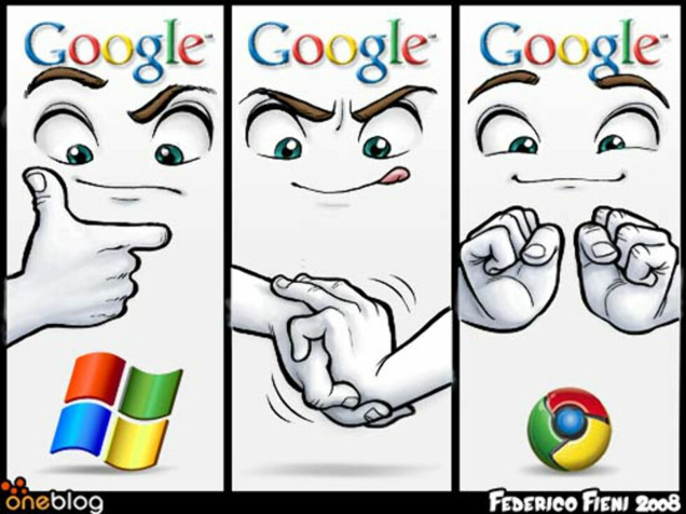 Slik lagde Google Chrome-logoen