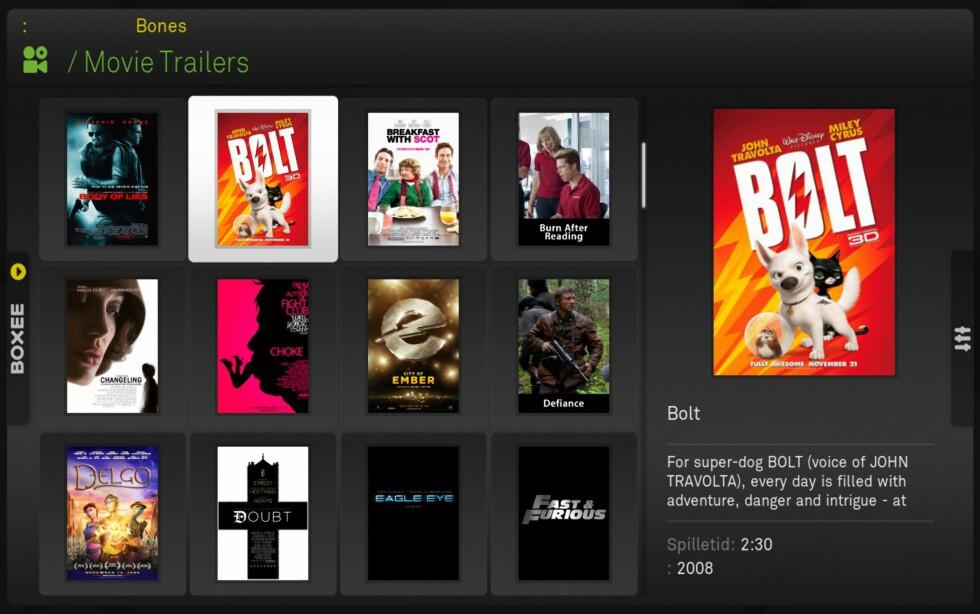 Boxee.tv samler alt medieinnhold, enten det er lagret på harddisken din eller befinner seg på nettet.