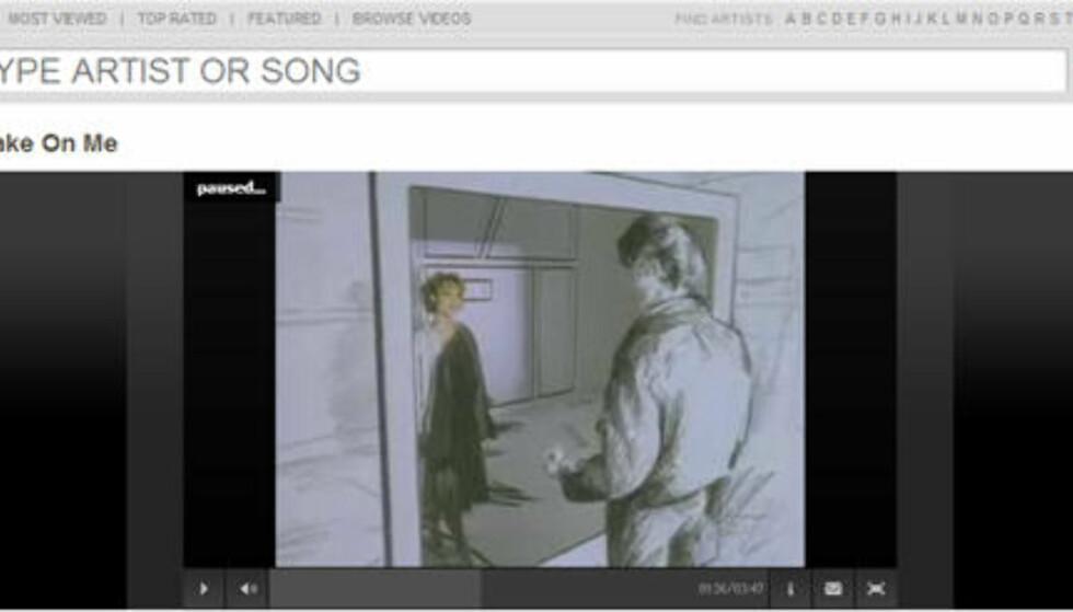 a-ha sin video fra 1985, Take on Me, er fortsatt blant de aller mest populære musikkvideoene, skal vi tro listene hos MTV Music.