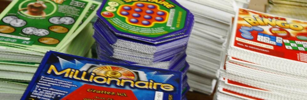 Hadde han enda prøvd lykken på skrapelodd. Foto: Colourbox.com