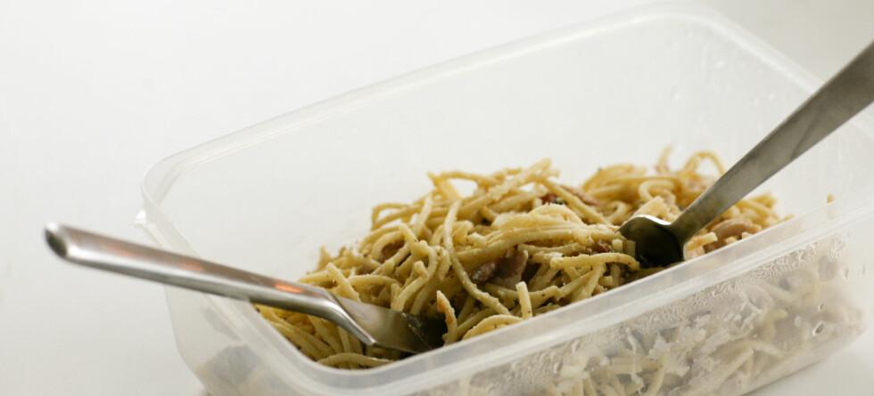 Ingen grunn til å kaste spaghettien fra i går ... Foto: colourbox.com