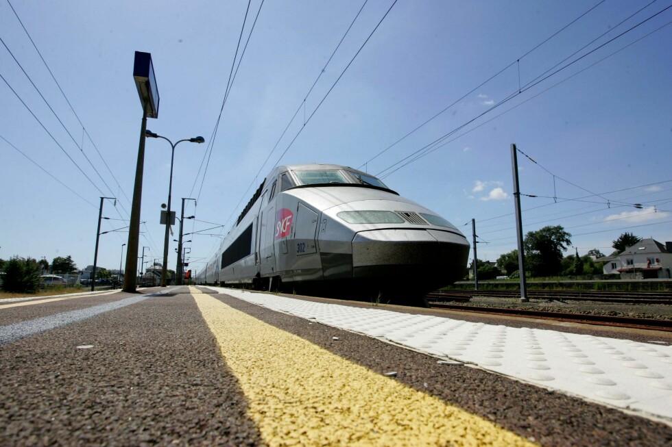 Togturen endte dårlig for den franske passasjeren som mistet mobilen sin i toalettet. Illustrasjonsfoto: Colourbox