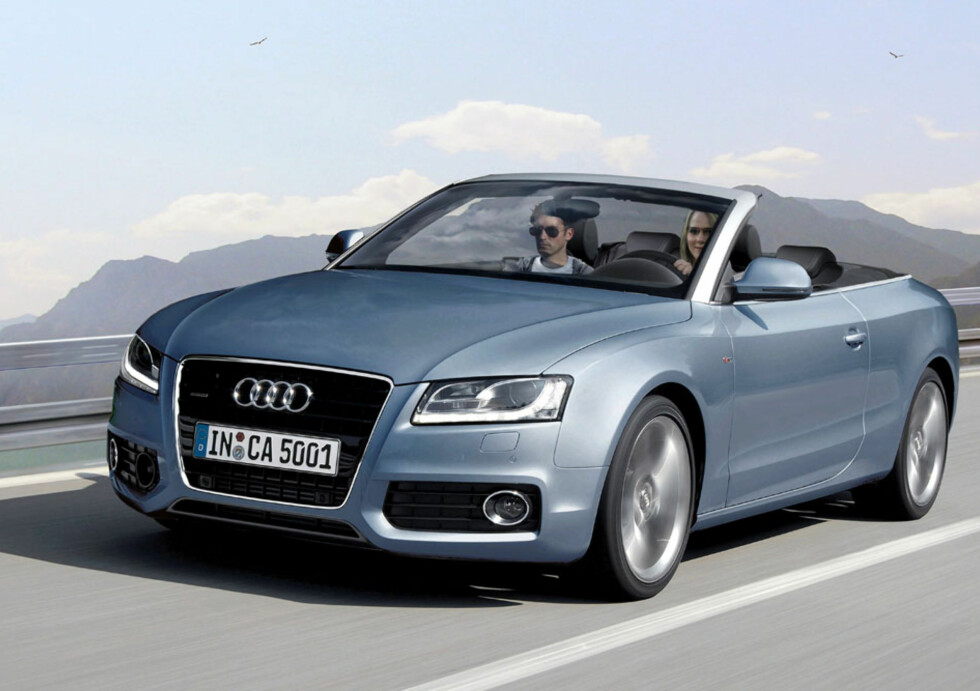Audi A5 kabriolet. Forventet i 2009. Foto: Automedia