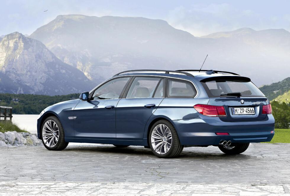 Ny BMW 5-serie stasjonsvogn. Forventet i 2011. Foto: Automedia