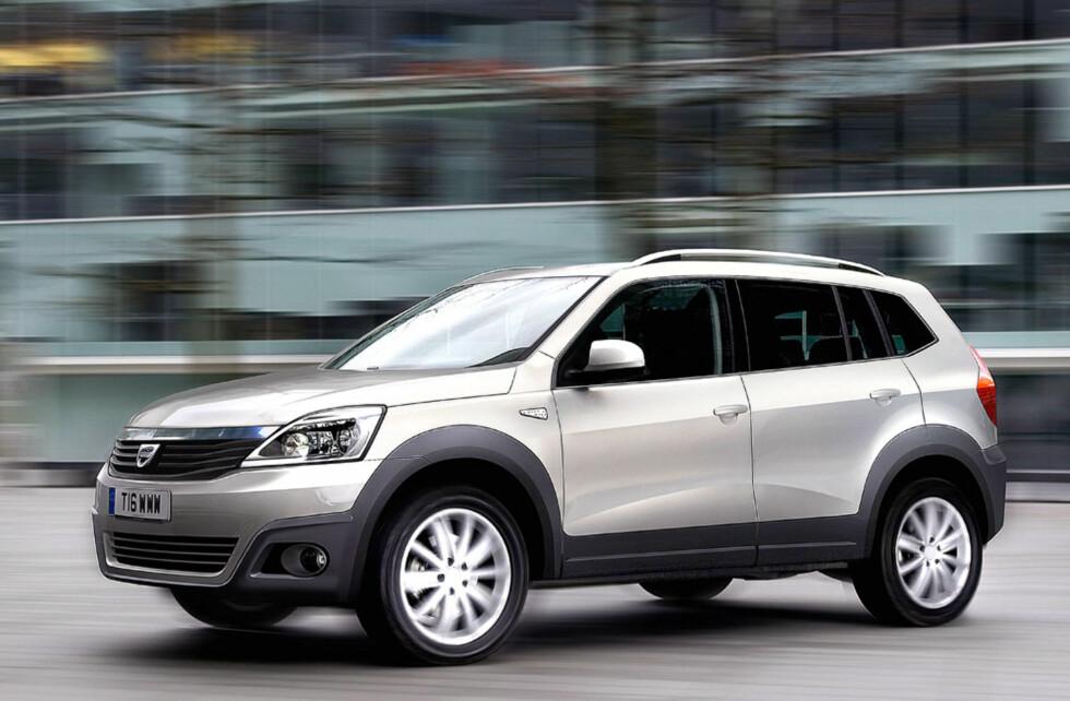 Dacia SUV. Blir sikkert billig og er ventet i 2011. Foto: Automedia