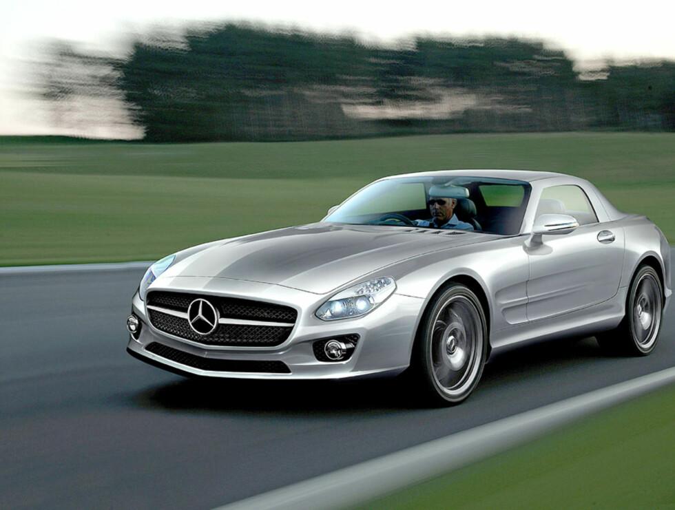 Mercedes jobber så vidt vi vet med to erstattere av SLR Mclaren. Dette er nok en av dem. Er ventet i 2011. Foto: Automedia