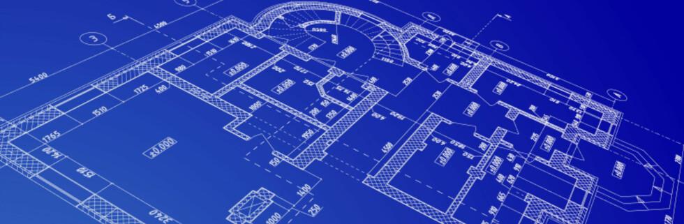 Fra blueprint til ferdig bolig - det er mye som kan gå galt. Foto: iStockphoto