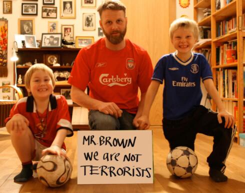 - Vi er ikke terrorister