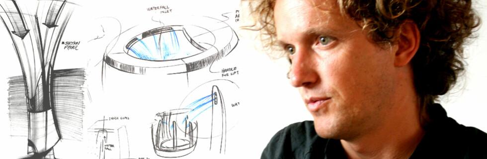 Yves Béhar er blant designerne som ser for seg store forandringer i boligene om noen år. (Montasje og bilde: Kim Jansson / Tegninger: Electrolux)