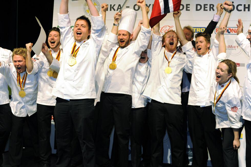 Norges kokketeam tok nylig kokkegull i VM. Foto: Tom Haga/Newswire