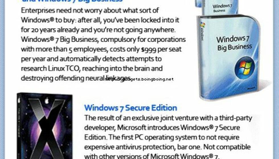 Windows 7 kommer i 20 versjoner