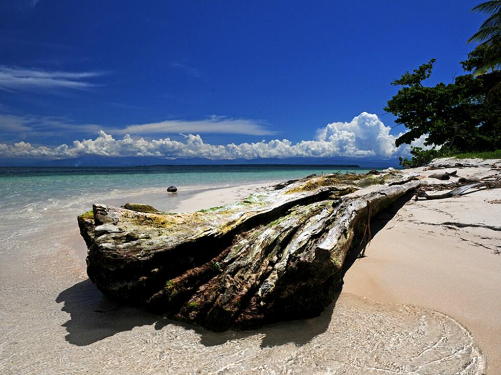 Du vil være stort sett alene hvis du reiser til de mer avsidesliggende øyene i Bocas.  Foto: Hans Kristian Krogh-Hanssen