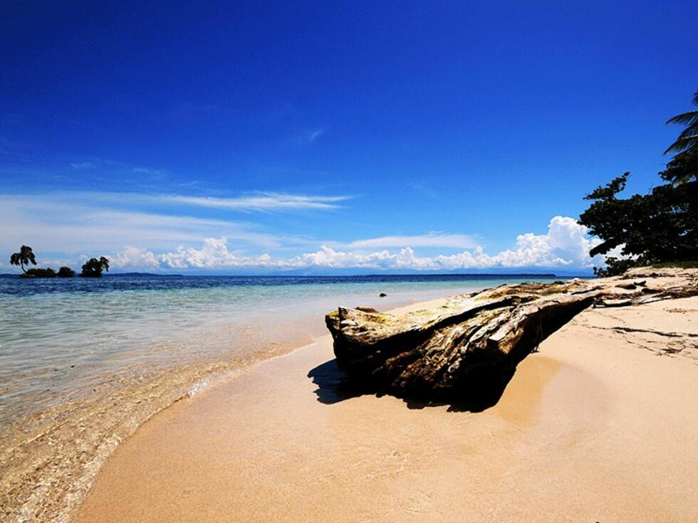 Stranden kalt Zapatero er en av de fineste i Bocas del Toro - øygruppen som ligger i Karibien på grensen til Costa Rica. Området er et av de vakreste i Panama og byr på diverse muligheter for vannsport, eller avslapning!!  Foto: Hans Kristian Krogh-Hanssen