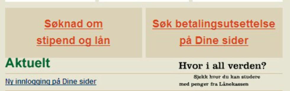 Faksimile: Lanekassen.no