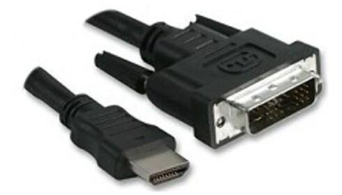 HDMI til venstre, DVI til høyre.