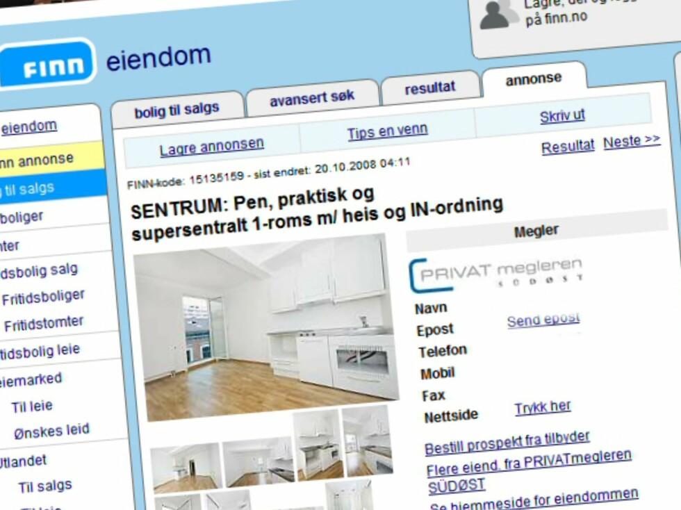 In-ordning er ikke nødvendigvis gunstig, selv om det brukes for å selge boliger. Foto: Finn.no