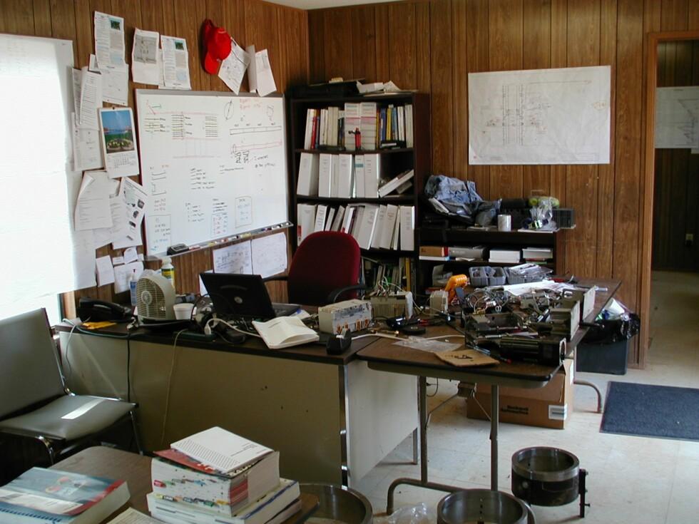 Dette retro kontoret befinner seg i Alabama i USA. Foto: Eivind V.