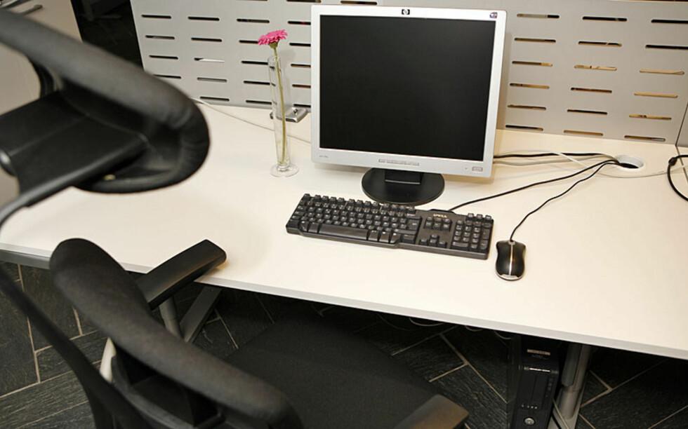 Tomt på pulten, tomt i hodet? Foto: Per Ervland