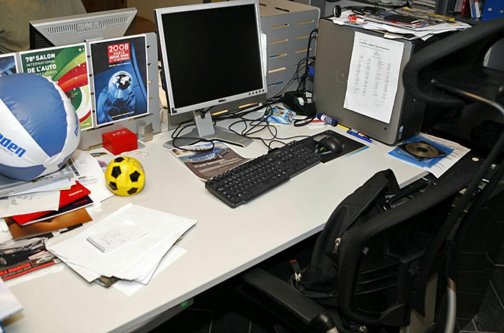 Sportsfanatiker på jobb? Foto: Per Ervland