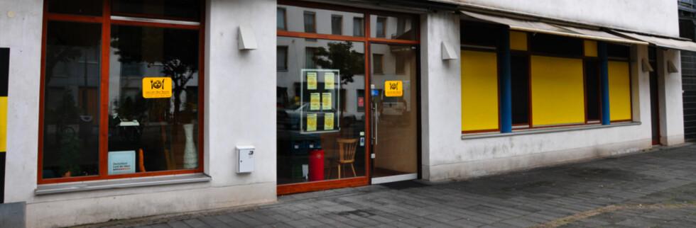 Her, i en liten sidegate i Köln, kan du spise i totalt mørke. Foto: Pål Joakim Olsen