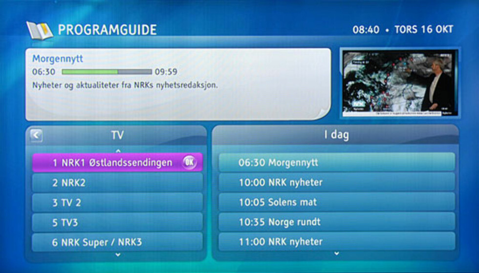 Programgiode fra Grundig/RiksTV