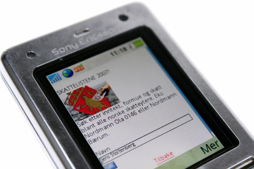 Sjekk skattetallene på mobil.dinside.no Foto: Kim Jansson