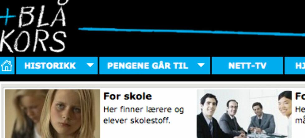 Slik ser nettsidene til årets TV-aksjon ut (faksimile: NRK.no)