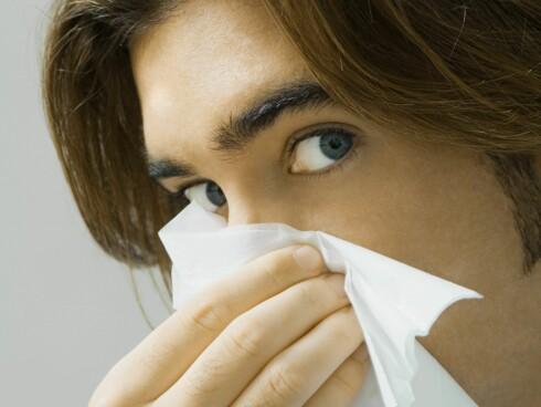 Det er ikke sikkert at du har bakterier selv om snørret er grønt...