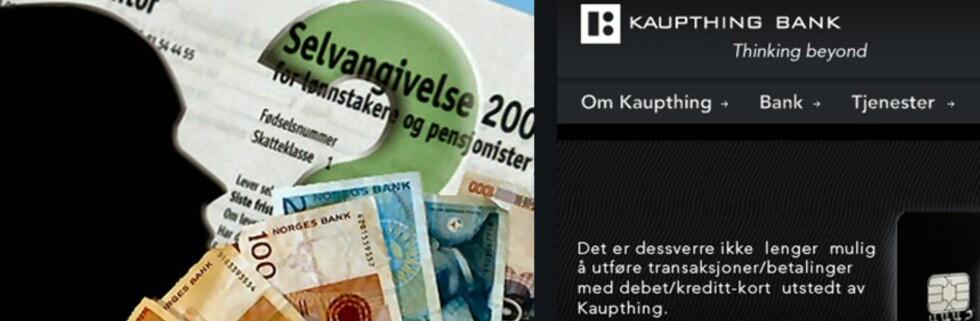 Hva gjør Kapthing-kunder med penger som kommer fortsatt kommer inn på konto? (Bildet er en montasje.)
