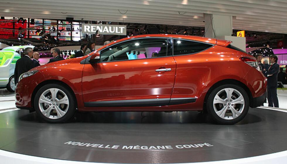 Her står Renault Mégane på utstillingen i Paris. Foto: Knut Moberg