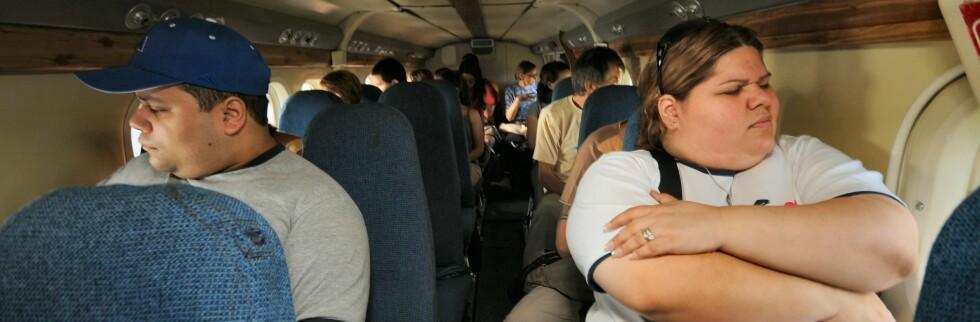 Det er ikke bare bare å være overvektig flypassasjer. Illustrasjon. Foto: Hans Kristian Krogh-Hanssen