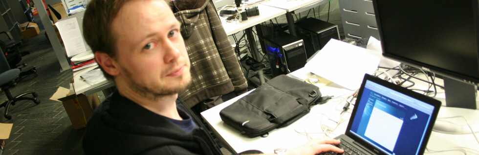 Øvind Idsø er bare en av alle Kaupthing-kundene som ikke kommer inn i nettbanken i dag. Foto: Synne Hellum Marschhäuser