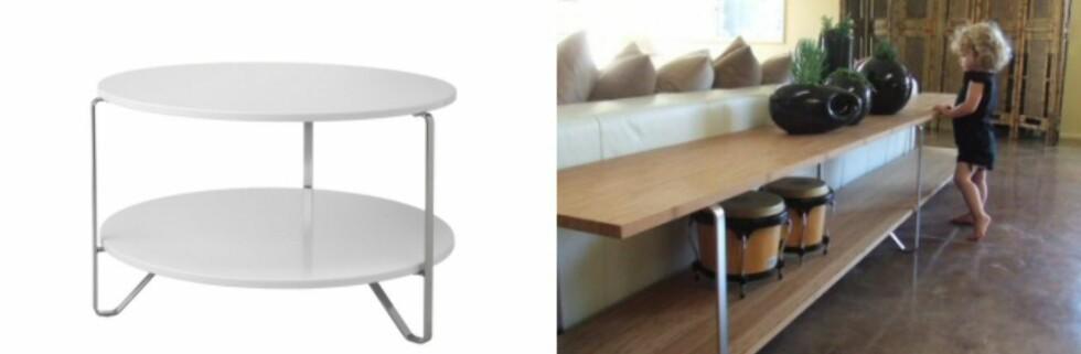 Liker du ikke bordet? Her har noen satt seks bein fra Imfors-bord på to bambusfinerplater. Foto: Ikea/ikeahacker.blogspot.com