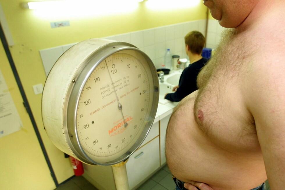 Fete og overvektige menn har større dødelighet av prostatakreft, viser ny studie. Foto: Colourbox