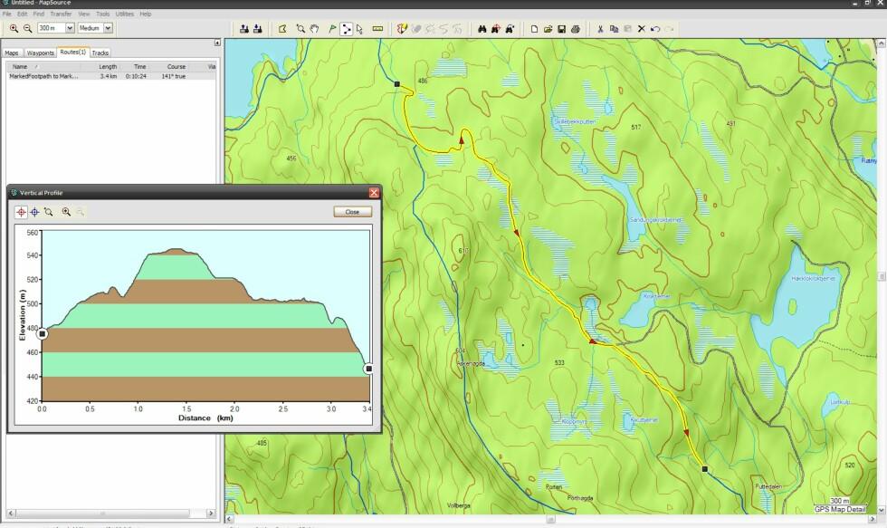 Tjenesten gir deg detaljerte beskrivelser av terrenget. Foto: Geodata
