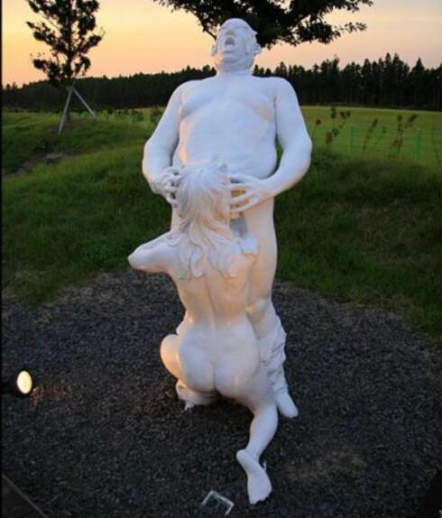 """""""Sexy"""" statue fra Jeju Loveland."""