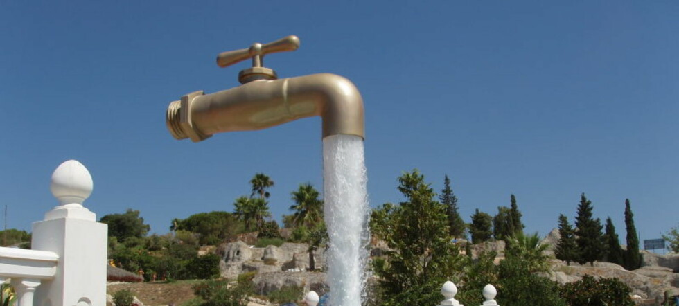 Denne magiske vannkranen kan du finne på et vannland i Spania. Foto: Wikipedia