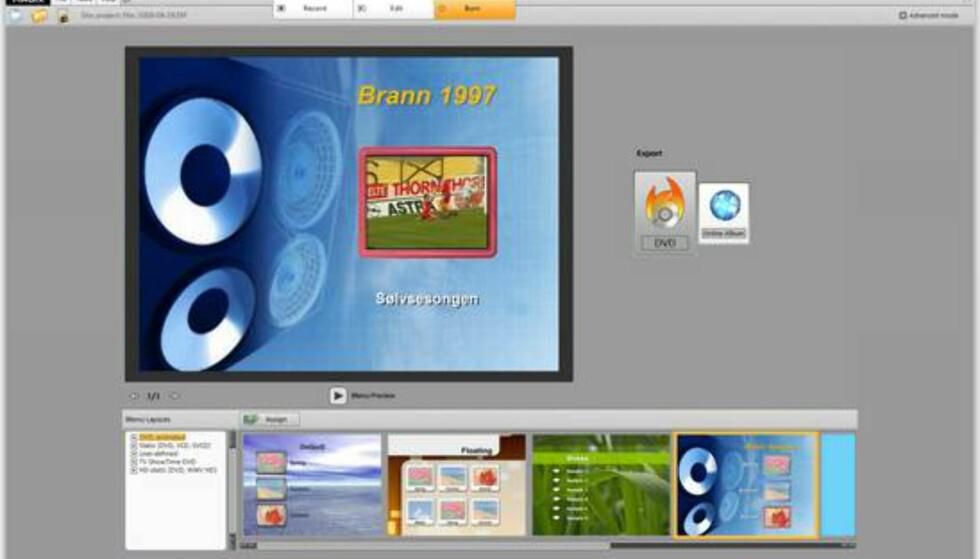 Du kan lage interaktive menyer til DVDen din.