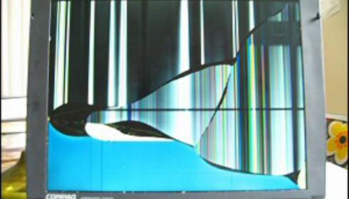 Artige mønstre i skjermen etter et fall er ikke like artig for lommeboka. Bildet er tatt av Flickr-bruker wh4t3v3r81.