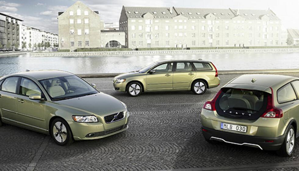 Store bilder av Volvos sparemodeller